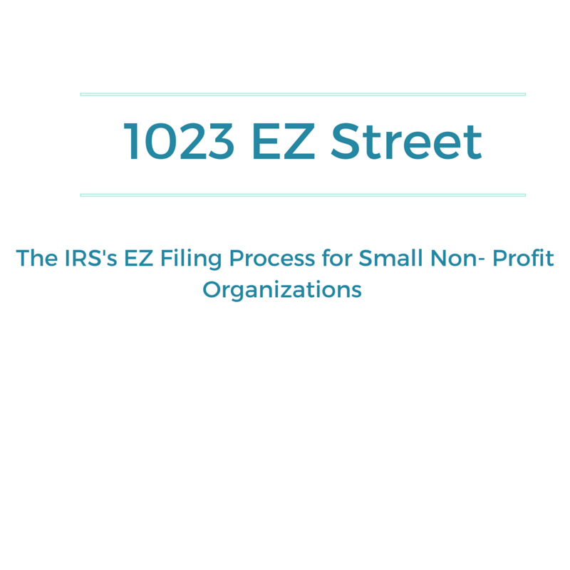 The EZ Filing Process For Small Nonprofit Organizations ...